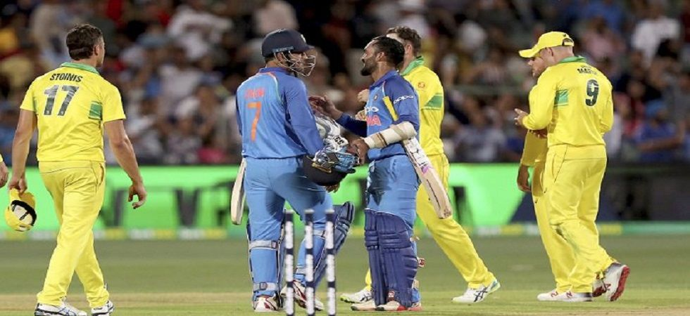 Indian team Sunday wore black armbands as a mark of respect in the memory of the CRPF personnel (Image Credit: Twitter)