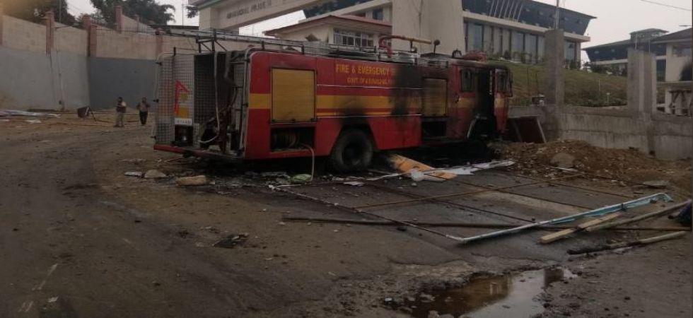 Arunachal Pradesh PRC stir: Deputy chief minister's house burnt, curfew imposed (Photo Source: ANI)