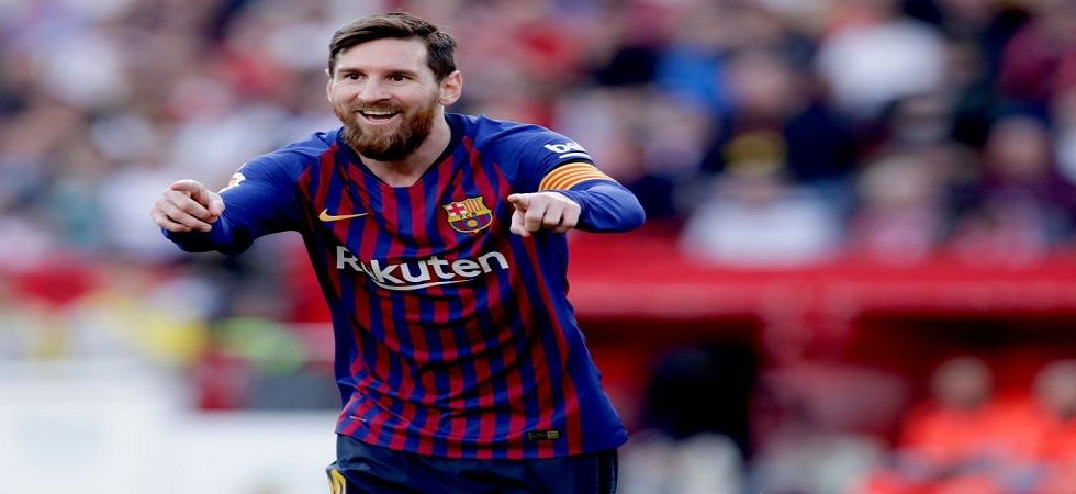 Lionel Messi slammed his 50th hat-trick in his career as Barcelona won against Sevilla to come closer to sealing the league title. (Image credit: Twitter)