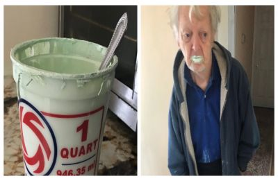 Grandad eats half a tub of paint after 'mistaking' it for yogurt