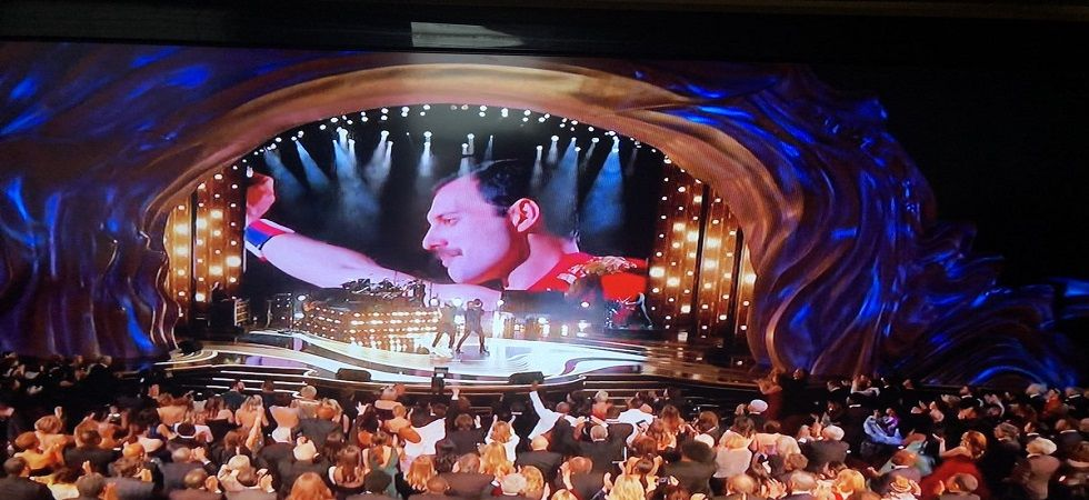 Legendary British rock band Queen gave the biggest night of movies, 91st Academy Awards, an exceptionally energetic and emotional start as they performed their classic hits. (Photo: Twitter/@nolimillie)