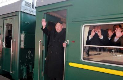 China scrubs social media as North Korean Kim Jong-un's train trundles south