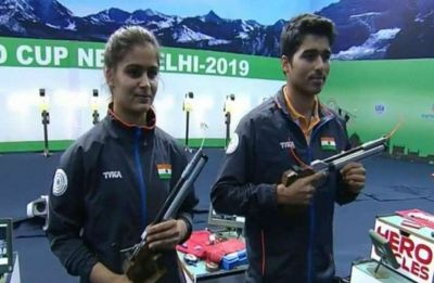 Saurabh Chaudhary, Manu Bhaker claim gold medal in 10m air pistol of ISSF World Cup