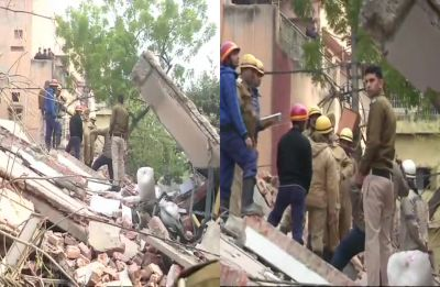 Alert neighbour notices leaning building, saves lives in Karol Bagh