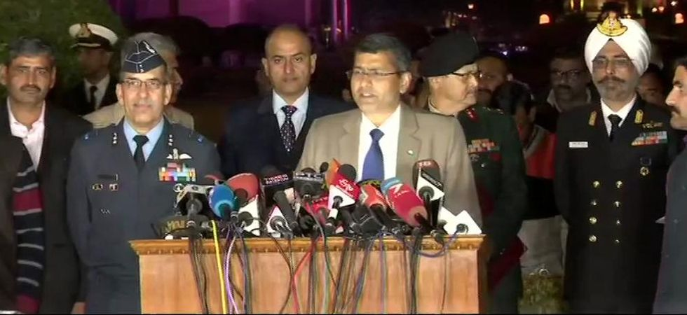 Rear Admiral Dalbir Singh Gujral said Indian Army remains poised in all three surfaces to deter and defeat any misadventure by Pakistan. (Image Credit: ANI)