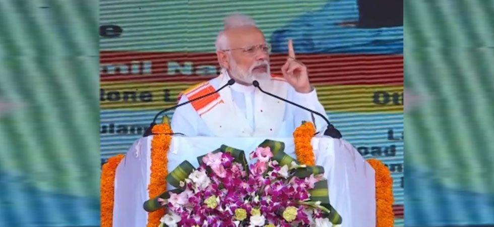 PM Modi during Kanyakumari rally. (Photo: Twitter/ANI)