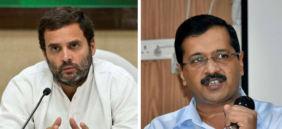 Congress President Rahul Gandhi (left) and AAP Chief Arvind Kejriwal. (File Photo)