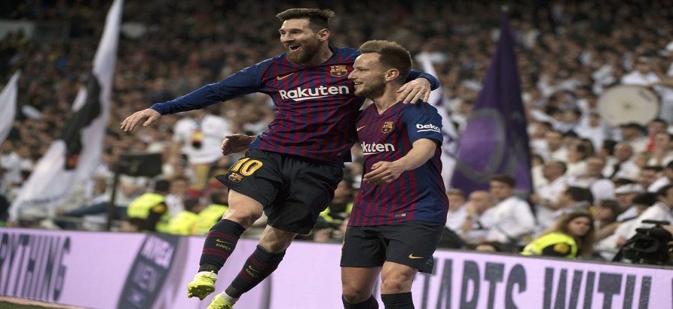 Ivan Rakitic scored for Barcelona as their head-to-head against Real Madrid improved after 87 years. (Image credit: UEFA Champions League Twitter)