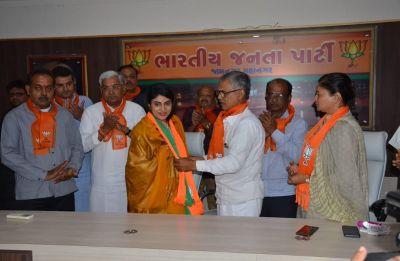 Cricketer Ravindra Jadeja's wife Rivaba Jadeja joins BJP in Gujarat's Jamnagar