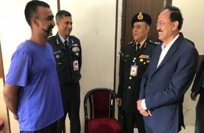 Union Minister Subhash Rao Bhamre meets IAF pilot Abhinandan Varthaman in Delhi