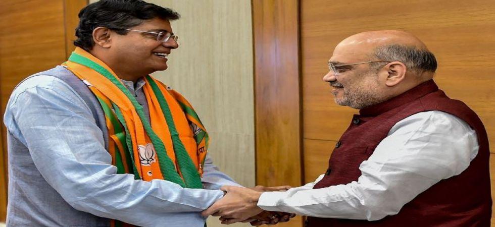 Jay Panda, former BJD leader, joins BJP (Photo Source: PTI)