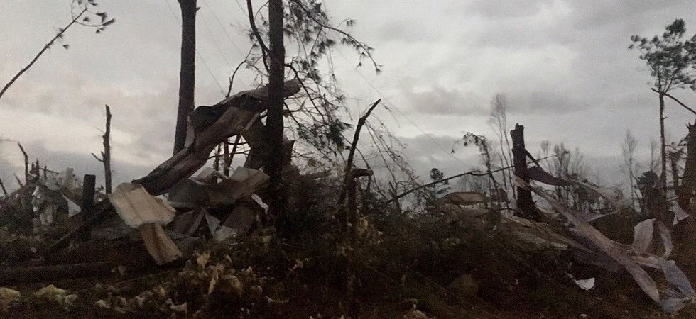 Some US media outlets reported that multiple twisters had hit the county