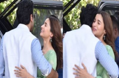 SPOTTED: Ranbir Kapoor gives girlfriend Alia Bhatt a warm hug outside airport and it is all things love
