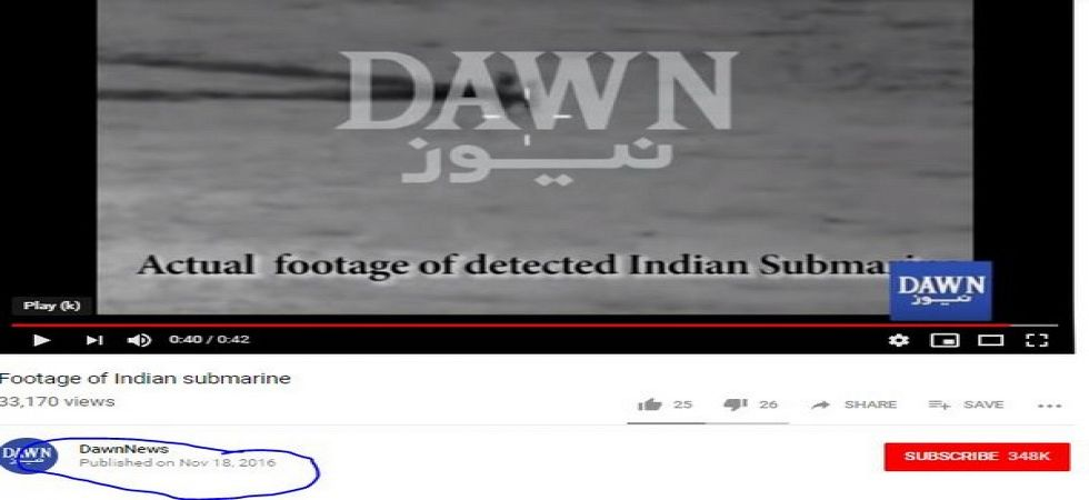 Pakistan Navy's claims of Indian submarine entering its waters fake (Screen grab)