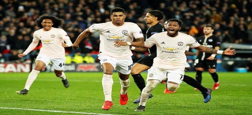 Manchester United entered the quarterfinal of the UEFA Champions League on away goals after beating Paris Saint-Germain 3-1. (Image credit: Twitter)