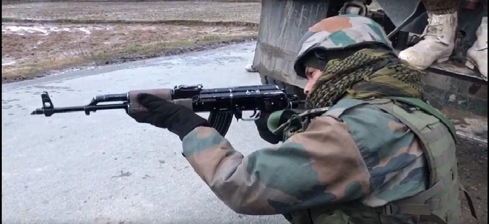 Brief exchange of fire between security, forces terrorists in Handwara