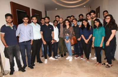Sanya Malhotra met real-life CA students at the special screening of Photograph