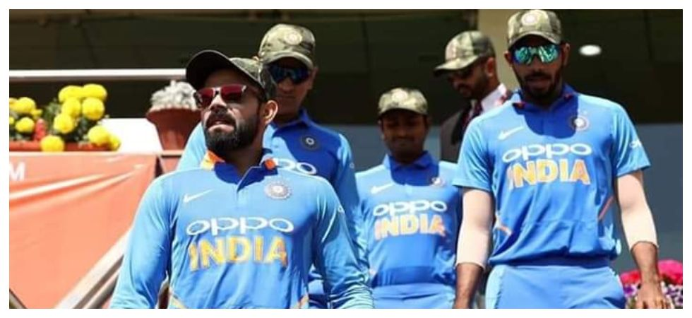The gesture by the Indian cricket team to don army-style caps to pay tribute to the jawans killed in Pulwama terror attack has evoked a mixed response. (Image credit: Twitter)