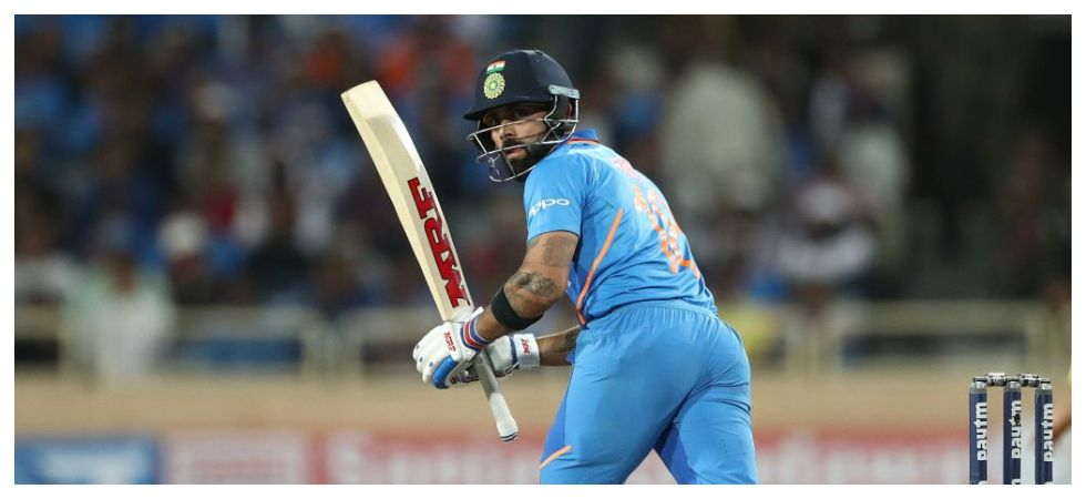Virat Kohli became the fastest to 4000 ODI runs as skipper by slamming his 41st century during the Ranchi game against Australia. (Image credit: BCCI Twitter)