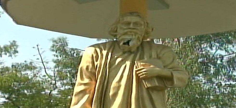 Rabindranath Tagore's statue vandalised in West Bengal's Bidhannagar