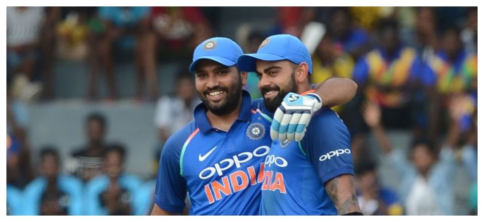 Rohit Sharma is the second Indian player after MS Dhoni to hit 350 sixes in international cricket. (Image credit: BCCI Twitter)