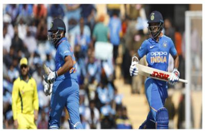 Shikhar Dhawan hits 16th ton, Rohit misses out as openers ease India's opening woes before World Cup