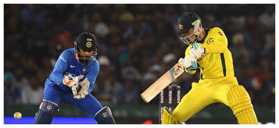 Peter Handscomb's maiden ODI century kept Australia in the hunt against India in the Mohali ODI. (Image credit: Fox Cricket Twitter)