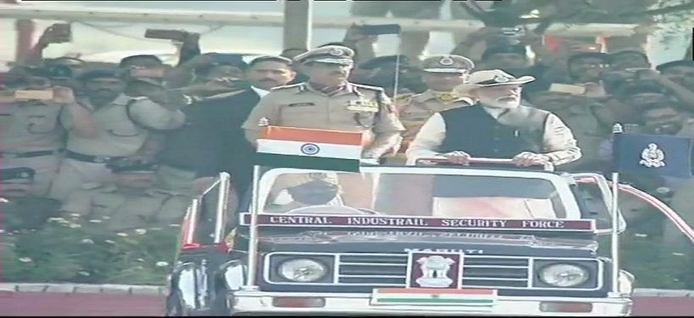 Prime Minister Narendra Modi at the CISF's 50th Raising Day in Indirapuram. (Photo: ANI)