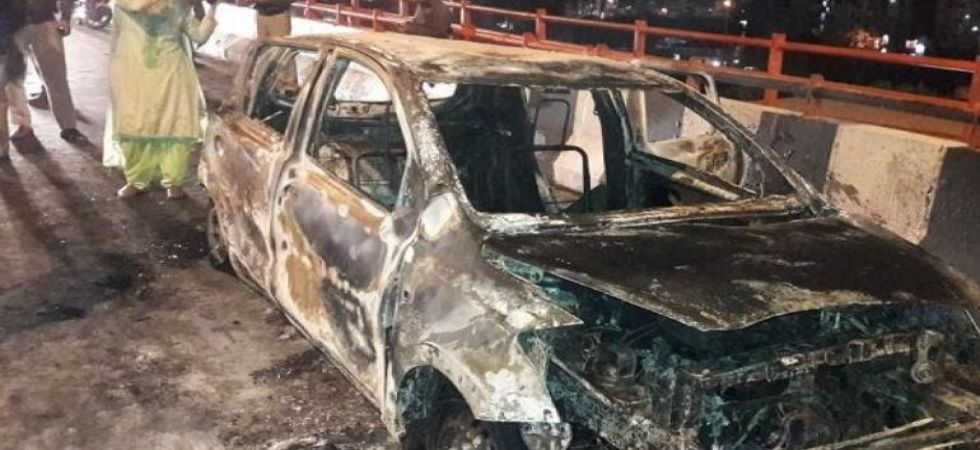 Delhi woman burnt alive in car with 2 minor daughters, family accuses husband (Photo Source: ANI)