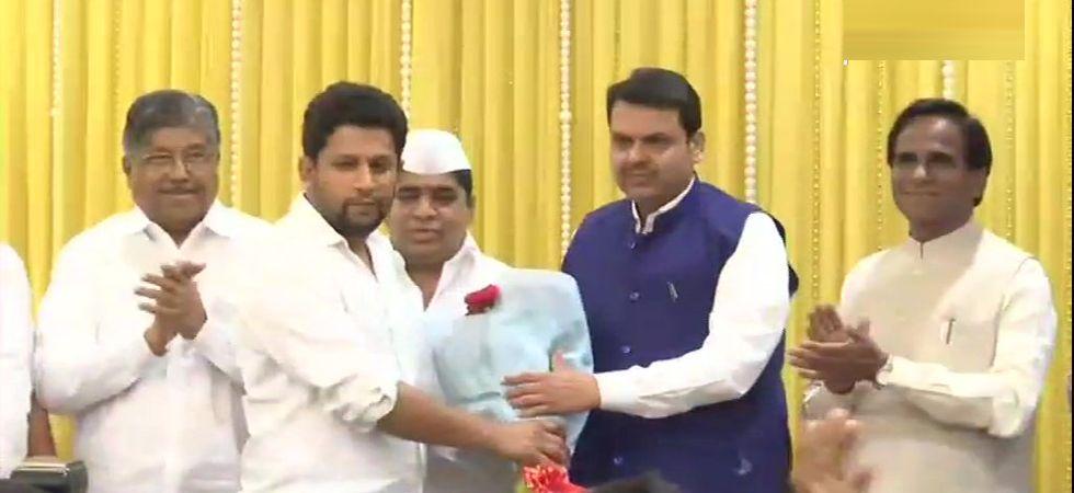 Sujay Vikhe Patil, son of top Maharashtra Congress leader Radhakrishna Vikhe Patil, joins BJP