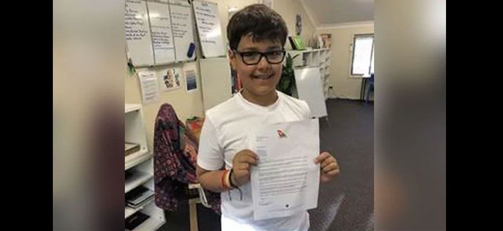 10-year-old writes heartwarming letter to Qantas CEO./ Image: Twitter