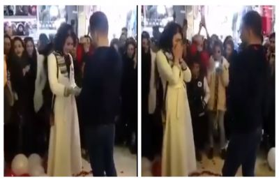 Iranian couple arrested for 'contradicting Islamic rituals' after their public marriage proposal goes viral