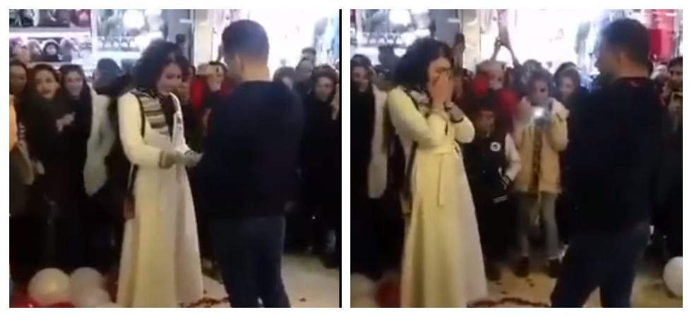 Iranian couple arrested after their marriage proposal goes viral (Photo: Twitter)