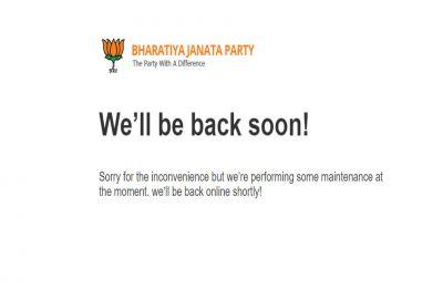 Ten days on, BJP's official website still under 'maintenance', Twitterati poke fun at party