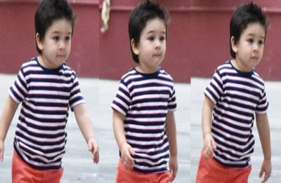 Taimur Ali khan looks adorably cute in his new summer hairdo with spikes