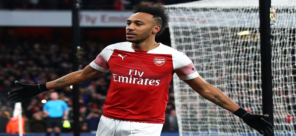 Aubameyang spearheaded Arsenal's revival by scoring twice in a 3-0 win over Rennes (Image Credit: Twitter)