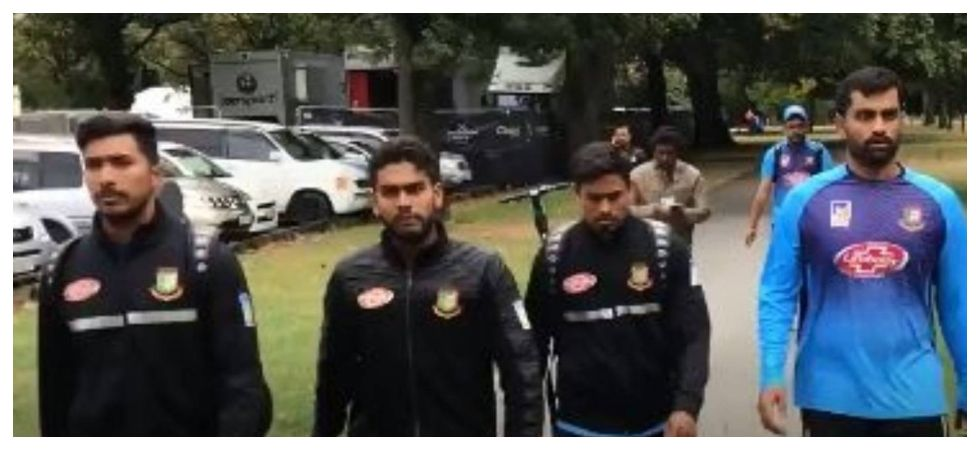 Bangladesh cricketers had to turn back after there was shooting at the Al Noor mosque in Christchurch. (Image credit: Twitter)