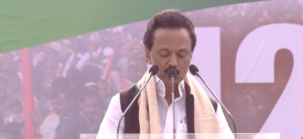 DMK leader MK Stalin also described his party-led coalition as the
