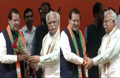 Arvind Kumar Sharma, senior Haryana Congress leader, joins BJP