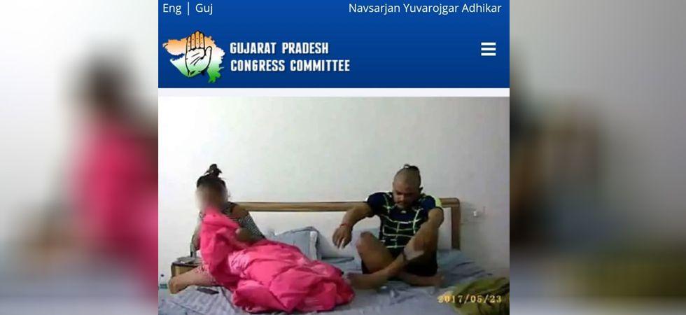 Screenshot of hacked Gujarat Congress website