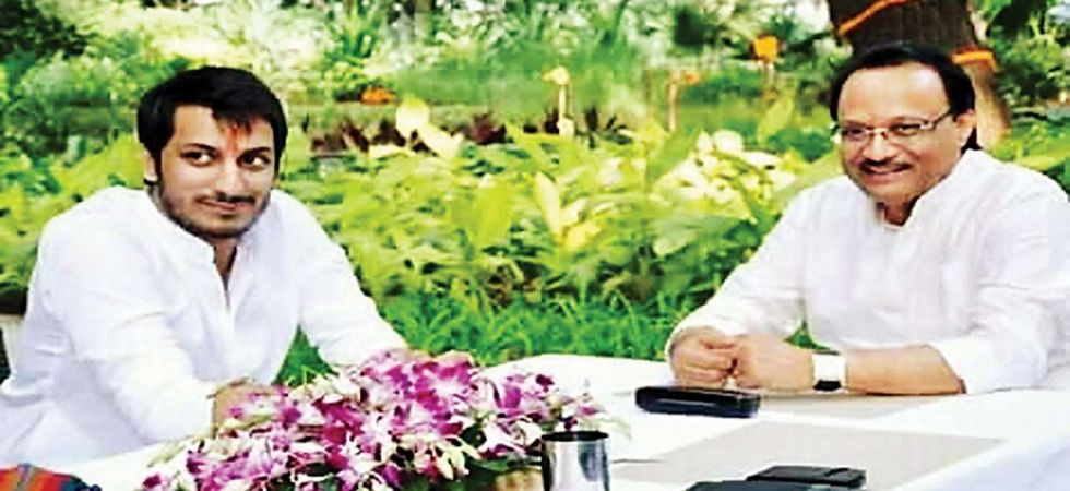 Parth Ajit Pawar with father Ajit Pawar (File Photo)