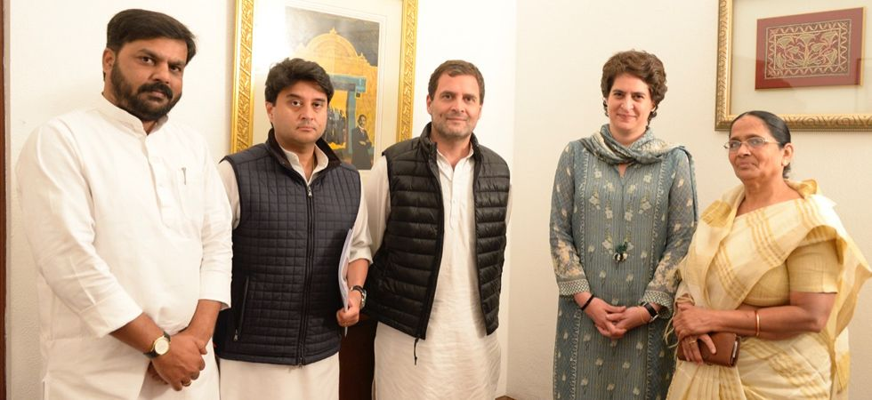 Pankaj Niranjan Singh Chandel, the son-in-law of Patel, joined the Congress in the presence of party president Rahul Gandhi and general secretaries Priyanka Gandhi Vadra and Jyotiraditya Scindia.