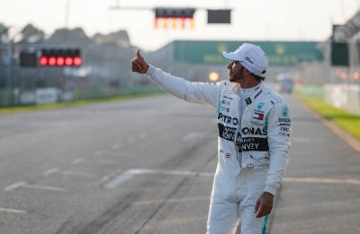 Lewis Hamilton secures pole in Australian Grand Prix, Sebastian Vettel third