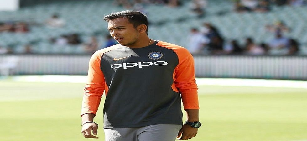 Prithvi Shaw suffered an ankle injury in the warm-up game against Cricket Australia XI in Sydney which ended his tour of Australia. (Image credit: Twitter)