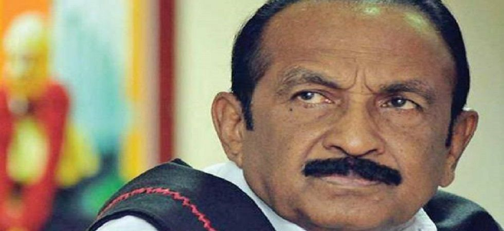 """Ganeshamurthi is contesting from Erode as MDMK candidate, on behalf of the DMK-led Secular Progressive Alliance,"" MDMK founder Vaiko said. (File photo)"