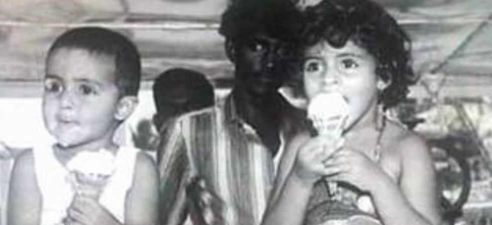 Abhishek Bachchan shares a throwback photo to wish Shweta on her birthday.