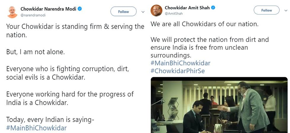 PM Modi, top BJP leaders, add 'chowkidar' to their Twitter names