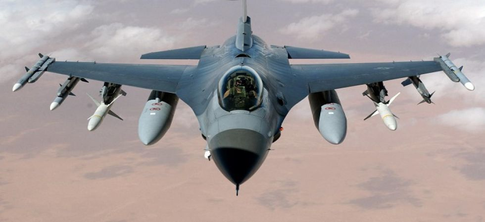 Pakistan's F-16 warplane which was shot down by India's MiG-21 Bison on Wednesday. (File photo)