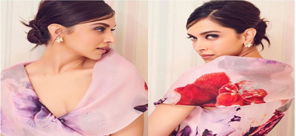 Deepika looks like a dream in cream flaunting a floral gown and smoky eyes (Instagram)