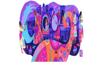 Google Doodle celebrates Holi with Chennai artist Chaaya Prabhat's colourful illustration